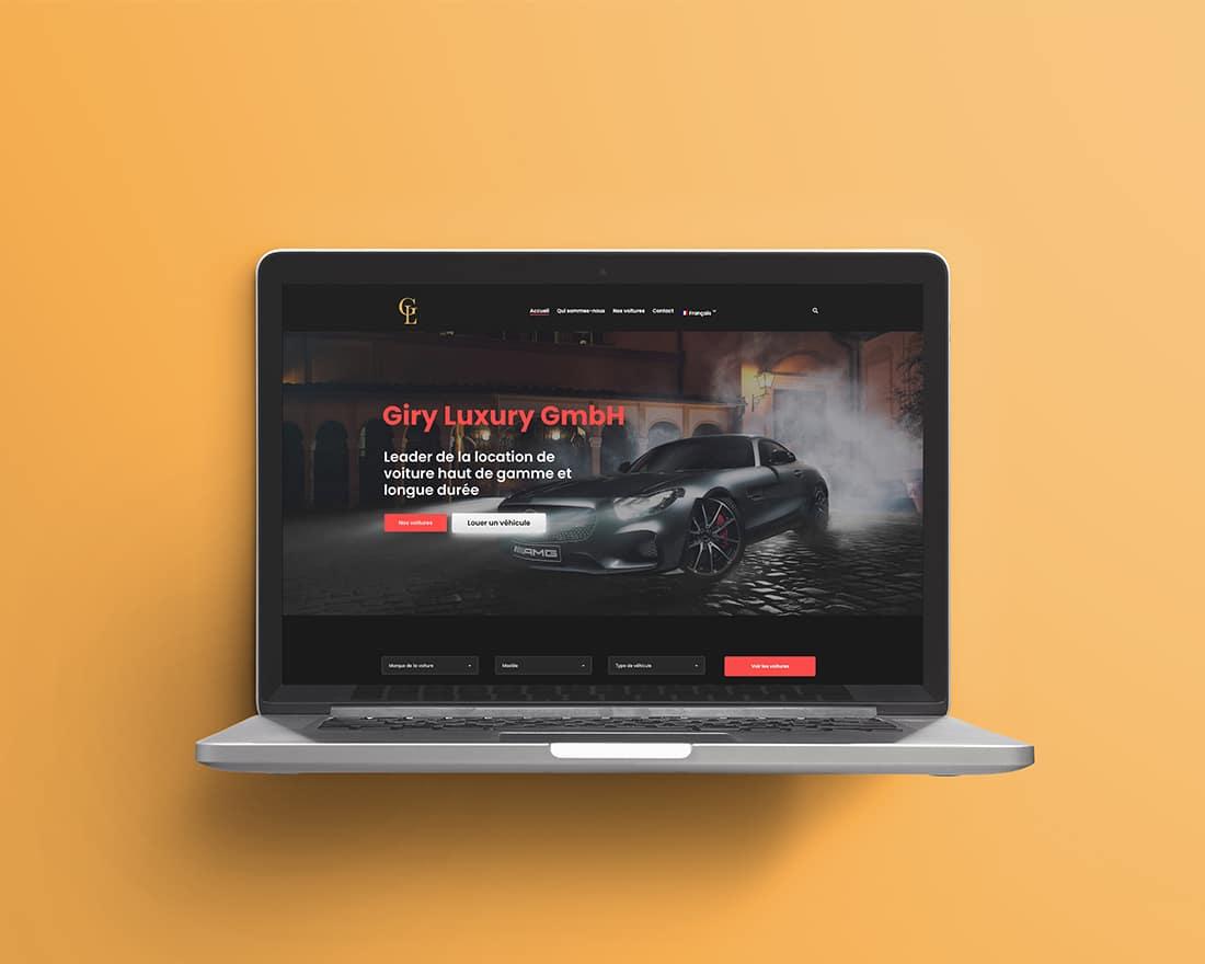 Madame et Monsieur Agency: Création de site internet Giry Luxury site de location de voiture