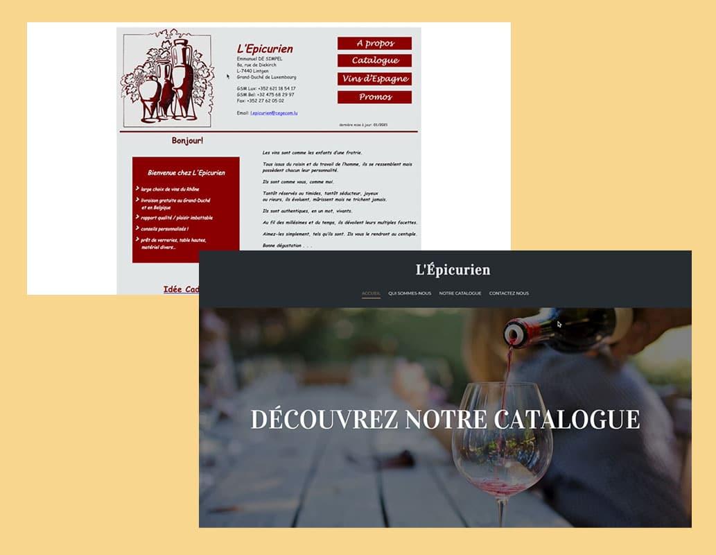 Madame et Monsieur Agency: L'épicurien site internet