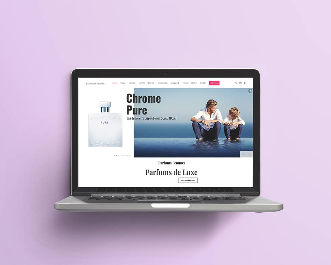 Site Web Parfumerie Vendôme Madame Monsieur Agency