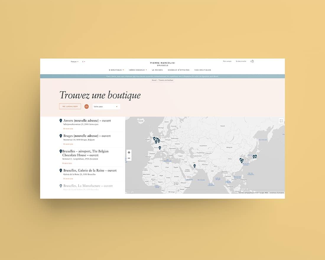 Site Web Pierre Marcolini Madame Monsieur Agency
