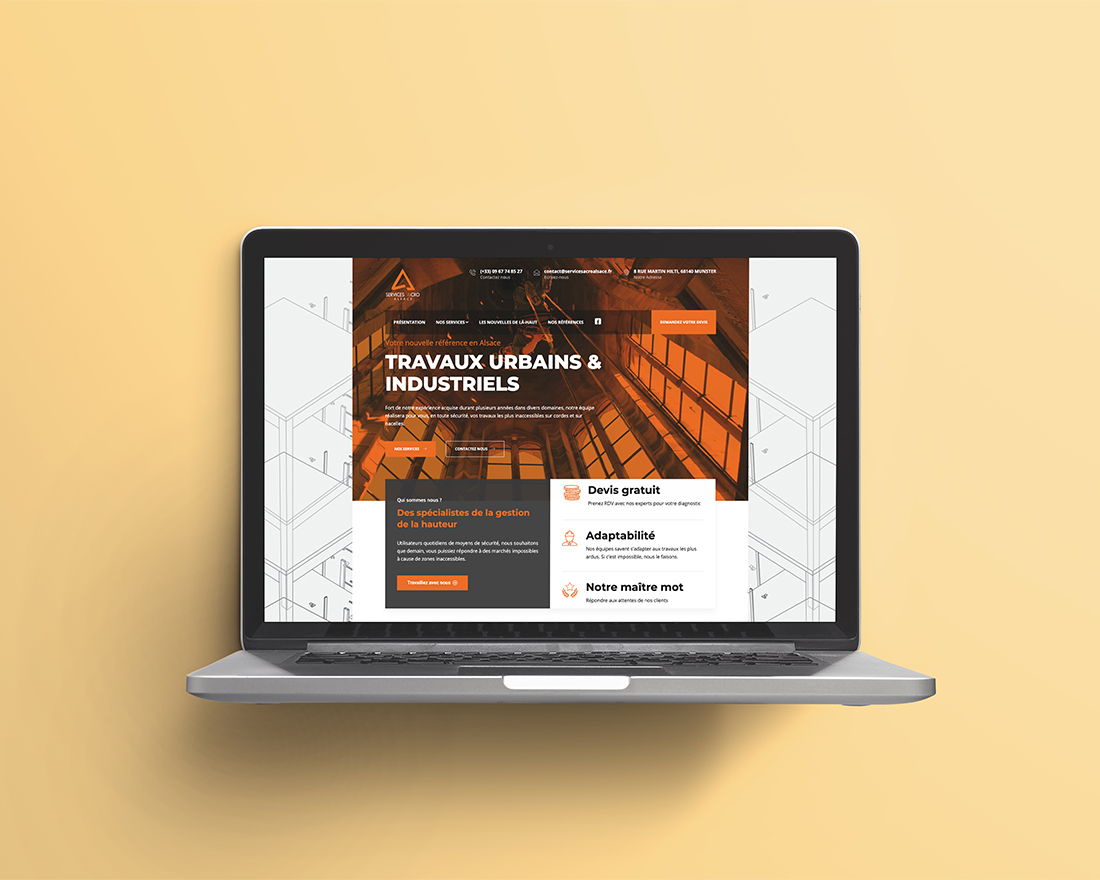 Madame et Monsieur Agency Accro service mockup ordinateur réalisation de site web